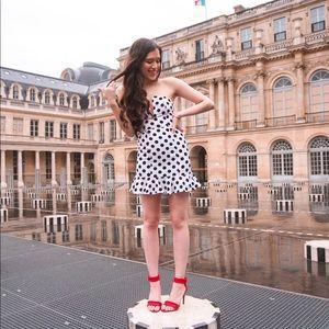 Revolve About Us Karla Polka Dot Dress Size Small